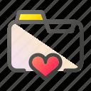 data, document, file management, folder, heart