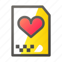 archive, data, document, file management, love icon