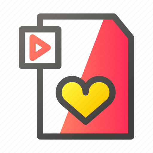 Data, document, file management, love, video icon - Download on Iconfinder
