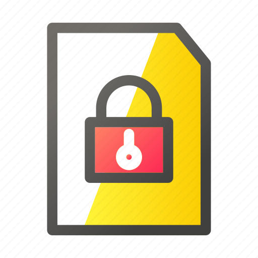 data, document, file management, padlock icon