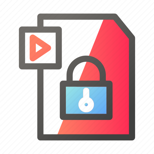 data, document, file management, protection, video icon