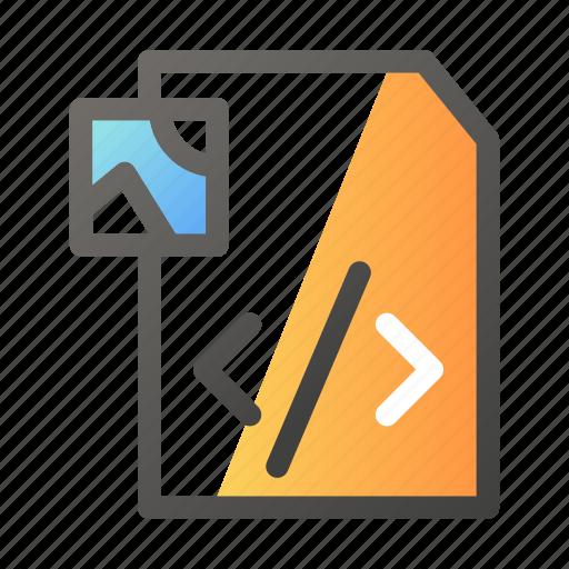 data, document, file management, image, script icon