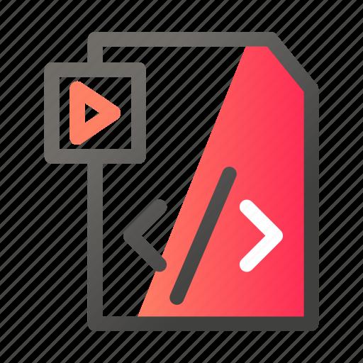 Data, document, file management, script, video icon - Download on Iconfinder