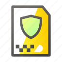 archive, data, document, file management, shield icon