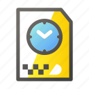 archive, data, document, file management, timer icon