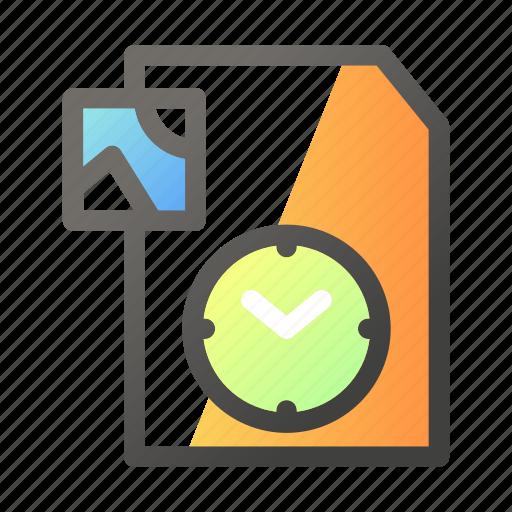 data, document, file management, image, timer icon