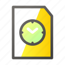 data, document, file, file management, timer icon