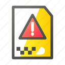 archive, data, document, file management, warning icon