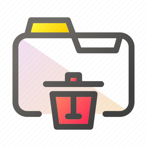 data, delete, document, file management, folder icon