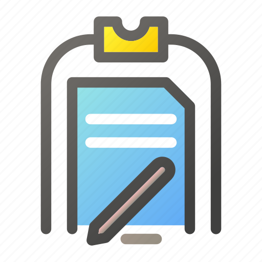 clipboard, data, document, edit, file management icon