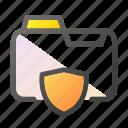 data, document, file management, folder, shield