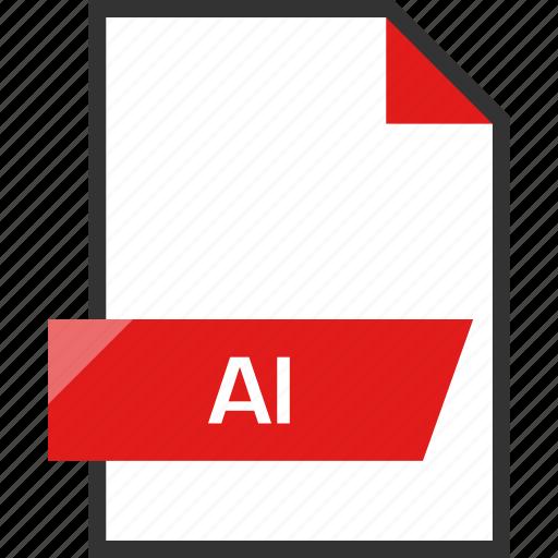 ai file, document, extension, file, name icon