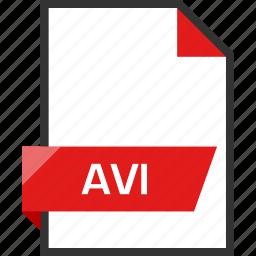 avi, document, extension, file, name icon