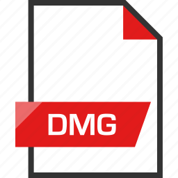 dmg, document, extension, file, name icon