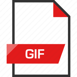 document, extension, file, gif, name icon