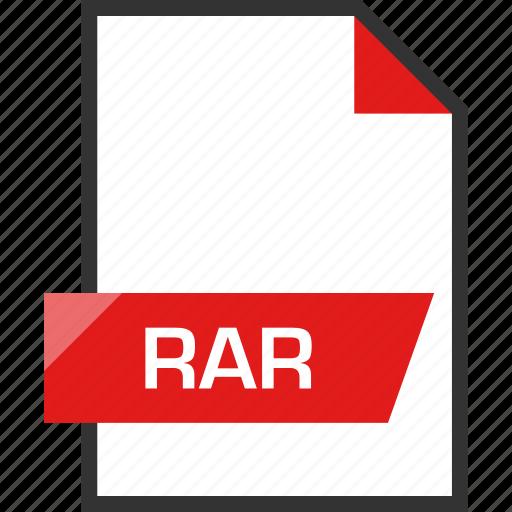 document, extension, file, name, rar icon