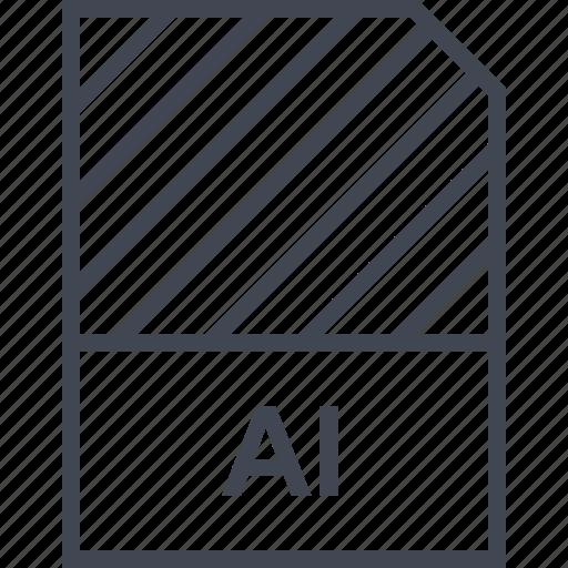 ai illustrator, document, file, name icon