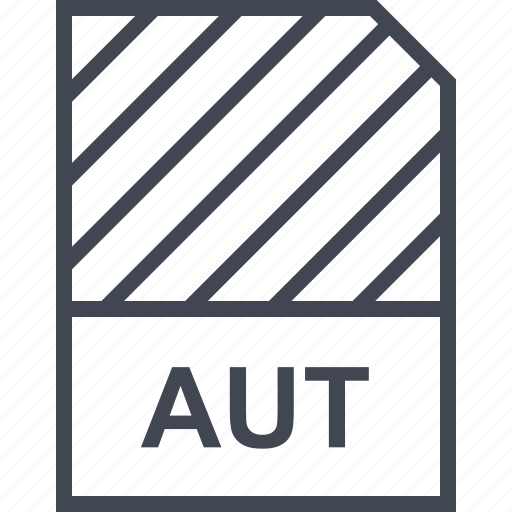 aut, document, file, name icon