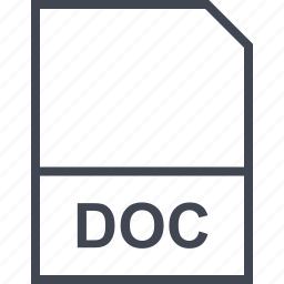 doc, extension, file icon