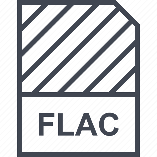document, file, flac, name icon