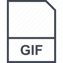 extension, file, gif icon