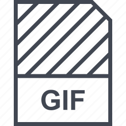 document, file, gif, name icon
