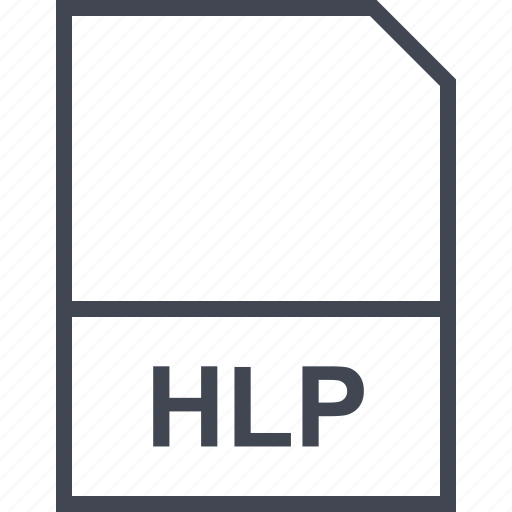 extension, file, hlp icon