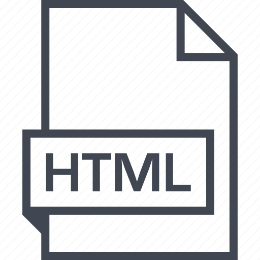 extension, file, html, name icon