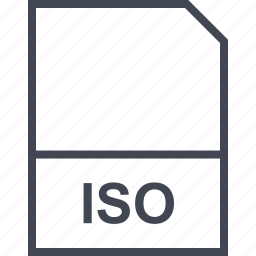 extension, file, iso icon