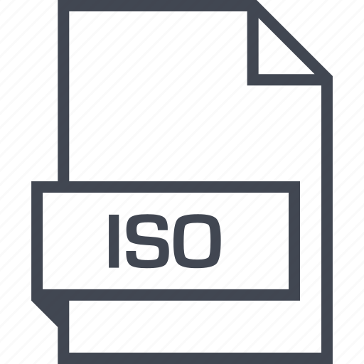 extension, file, iso, name icon