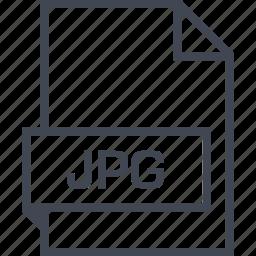 extension, file, jpg, name icon