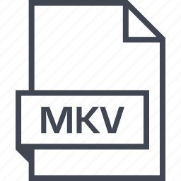 extension, file, mkv, name icon