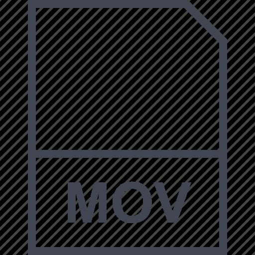 extension, file, mov icon