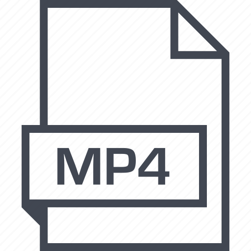 extension, file, mp4, name icon