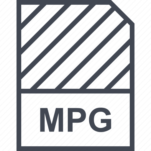 document, file, mpg, name icon
