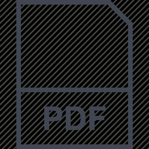 extension, file, pdf icon