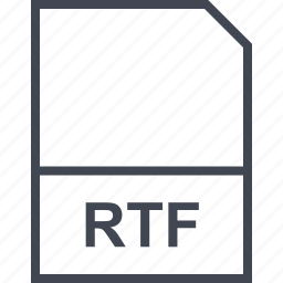 extension, file, rtf icon