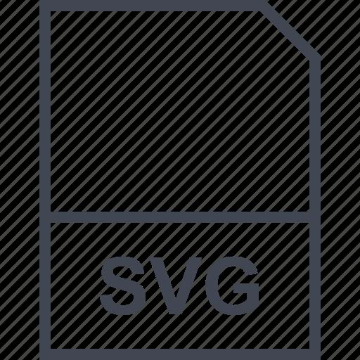 extension, file, svg illustrator icon