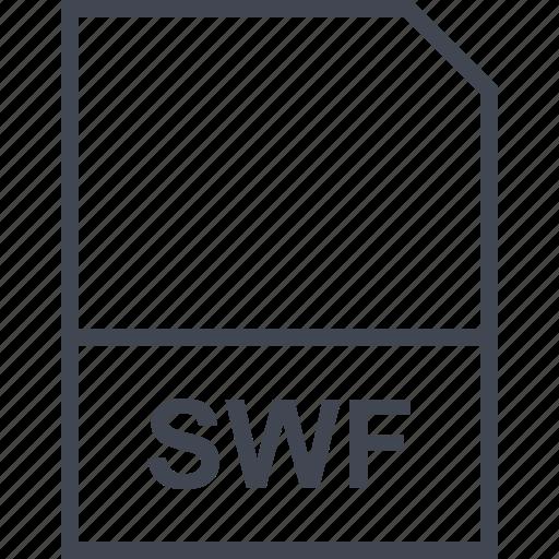 extension, file, swf icon