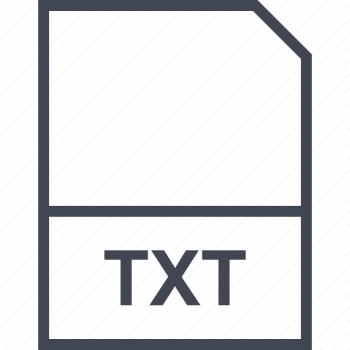 extension, file, txt icon