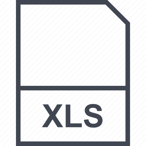 extension, file, xls icon