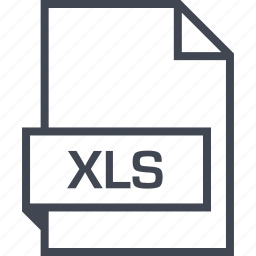 extension, file, name, xls icon