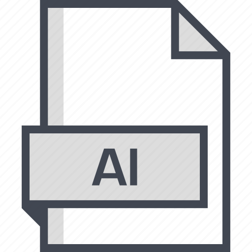 ai file, document, extension, name icon