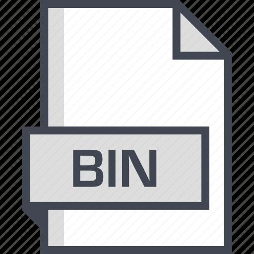 bin, document, extension, name icon