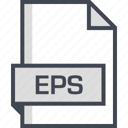 document, eps, extension, name icon