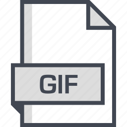 document, extension, gif, name icon
