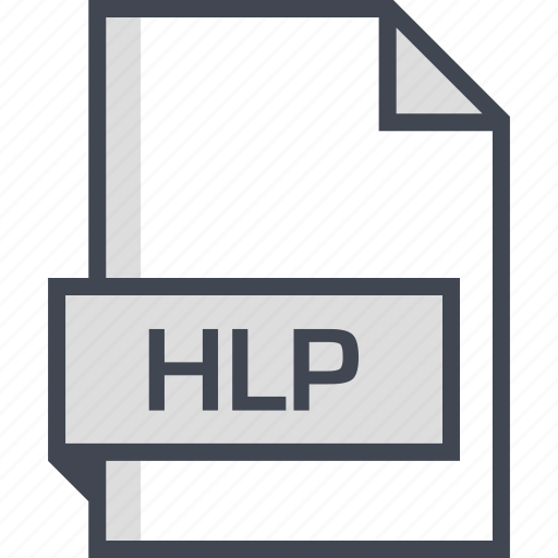 document, extension, hlp, name icon