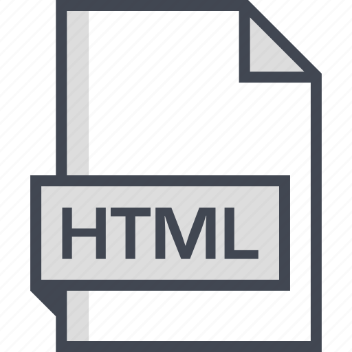 document, extension, html, name icon