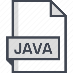document, extension, java, name icon