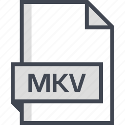 document, extension, mkv, name icon